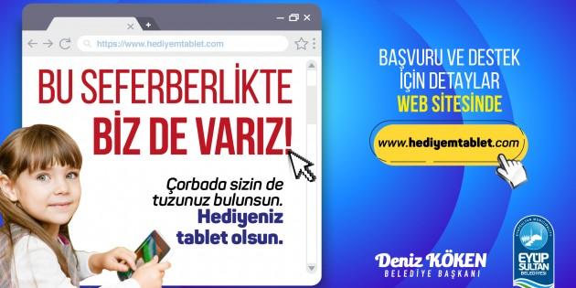 Eyüpsultan Belediyesinden Hediyem Tablet kampanyası
