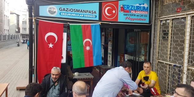 ERZURUMLULAR CAN AZERBAYCAN İÇİN BİR ARAYA GELDİLER