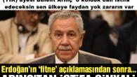 Cumhurbaşkanlığı Yüksek İstişare Kurulu (YİK) üyesi Bülent Arınç' o koltuk dan istifa edeceksin senin ülkeye faydan yok zararın var