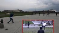Sultangazi'de kriket oynayan yabancı uyruklular polisten böyle kaçtı