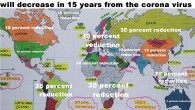 how many countries in the world's population will decrease in 15 years from the corona virus