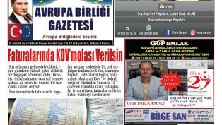 Avrupa Birliği Gazetesi 215 Sayısı Çıktı