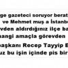 Gölge gazeteci soruyor berat albayrak ve Mehmet muş a İstanbul da görevden aldırdığınız ilçe başkanlarını hangi amaçla görevden aldınız