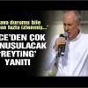 Muharrem İnce: Erdoğan reytingi sana ben katarım