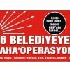CHP'li tüm belediyelere şu an müfettiş var, 6 belediyeye 'operasyon' bekleniyor