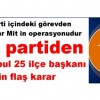 Ak parti içindeki görevden alınmalar Mit in operasyonudur