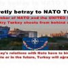 A member of NATO and the UNITED STATES country Turkey shoots from behind eating