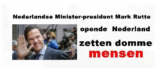 Nederlandse Minister-president Mark Rutte