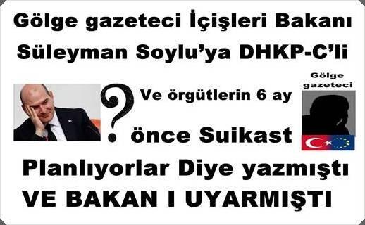 Gölge gazeteci İçişleri Bakanı Süleyman Soylu'ya